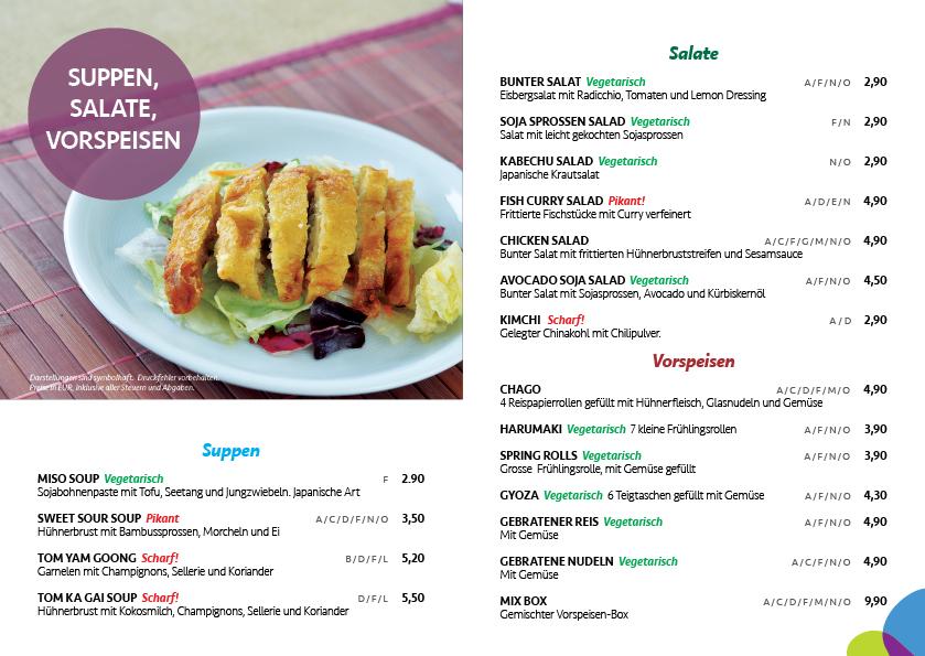 Menü Sarang Asian Fusion Restaurant